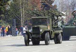M-13 type launch vehicle (semi-original version). Katyusha