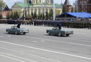 Rehearsal of Victory Day parade in Hero-City of Tula, Russia, May 5, 2021
