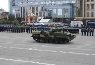 PRP-5 mobile reconnaissance post mounted on BMP-3, Strela enterprise (Tula, Russia)
