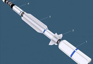Scheme of SM-3 Block-IA interceptor missile