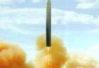 UR-100N UTTH strategic missile system with 15A35 missile