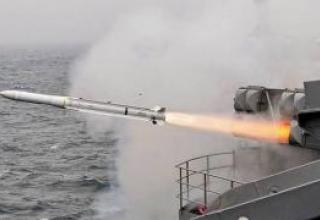 An anti-aircraft missile Evolved Sea Sparrow (RIM-162)