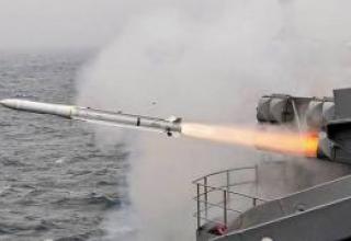 An anti-aircraft missile Evolved Sea Sparrow (RIM-162)