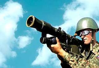 "Portable anti-aircraft missile system 9K38 ""Igla"""