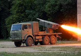 128 mm M-77 Oganj multiple rocket launcher system