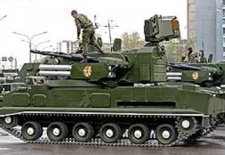 Anti-aircraft missile system 2K22 Tunguska