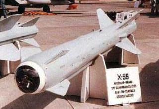 Guided medium-range tactical missile X-59 Ovod
